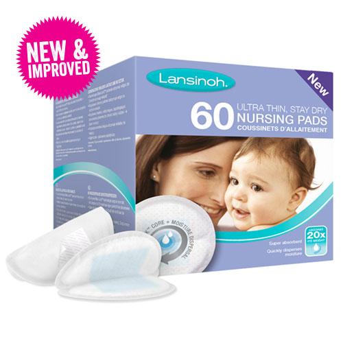 Pack of 60 New Blue Lock Lansinoh Breast Pads